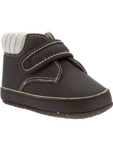 [SALE]Faux-Leather Sweater-Trim Shoes for Baby[0/3m~18/24m]